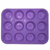 Forma Silicone Muffins Cupcake Bolinho 12 Cavidades