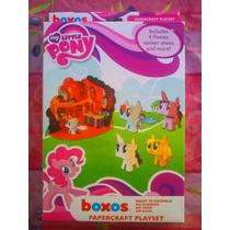 Mi Pequeno Pony Set Boxos Papercraft Figuras Armables Carton