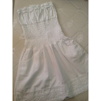Vestido Playero Blanco Tipo Hindu