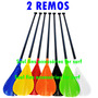 2 Remos Stand Up Paddle 700g - Várias Cores - Pronta Entrega