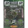 Kit Calcos Troquelados Travis Patrana, Monster, Red Bull