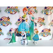 Kit Display De Chão Mesa Totem Painel Cenário Frozen Fever
