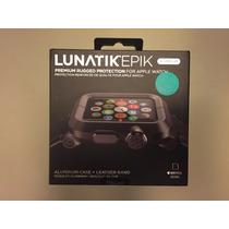 Apple Watch Lunatik Epik 1y2 42mm 100% Or. Aluminio Y Piel