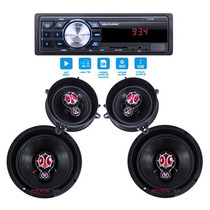 Kit Auto Falante Gol G5 09 10 11 12 13 + Auto Radio Mp3 Usb