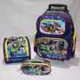 Kit Mochila Inf Rodinhas Toy Story Buzz + Lancheira + Estojo