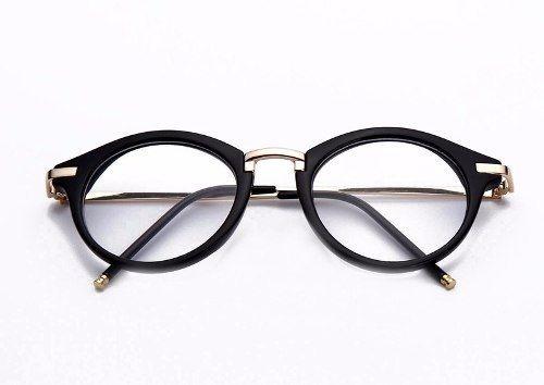 341fafefaa094 Óculos Armação Acetato Feminino Redondo Com Metal - R  64