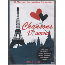 Dvd Chansons D Amour Dvd+cd O Melhora Da Musica Francesa