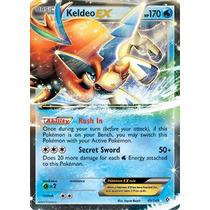 Carta Pokemon Keldeo Ex - Fronteiras Cruzadas + Brinde