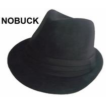 Chapéu Fedora Preto Nobuck