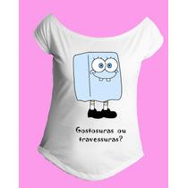 Camiseta Gola Canoa Halloween Bob Esponja 01