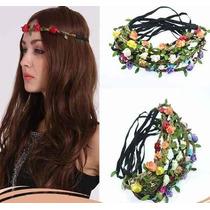 1 Kit C/ 10 Headband Tiara Coroa Flores Festival Praia