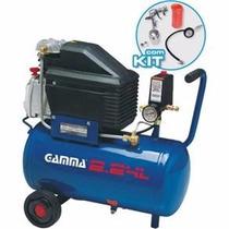 Compressor Ar 2 Hp 7,5 Pés -gamma Com Kit Pintura Completo