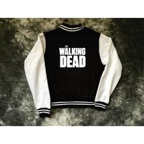 Chamarra The Walking Dead Tipo Universitaria