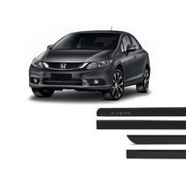 Friso Lateral Cor Original Honda Civic Preto 2012 A 2015