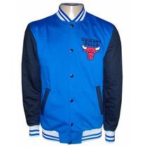 Blusa Moletom Chicago Bulls Azul Royal E Preta Colegial
