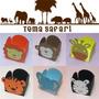 20 Forminhas Doces Safari Animais Infantil Decoração Festa