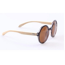 Óculos De Sol Feminino Redondo Bamboo Eyewear