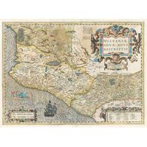 Lienzo Tela Mapa Costa Oeste México 1606 50 X 68 Cm Plano