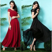 Vestido Largo Fresco Temporada Elegante Envío Gratis 3000