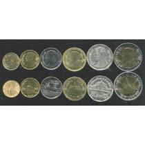 Tailandia Set De 6 Monedas Sin Circular Incluye Bimetalica