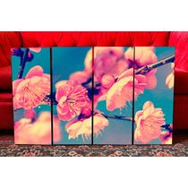 Set De Cuadros Modernos Flores Vintage Retro. Paisajes