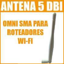 Antena Omni 5dbi Para Roteadores Ou Placas Wi-fi