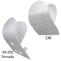 Kit Protetor Motor Cárter Em Aluminio P/ Crf E Xr250 Tornado