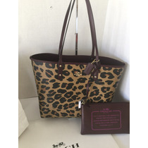 Bolsa Coach Original Tote Reversible Cheeta Animal Print