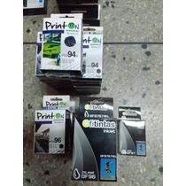 Cartuchos Hp Xl Compatibles Printon 94 8050 Ofitintas 96