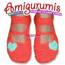 Pantuflas Slippers Babuchas Zapatillas Tejido Crochet