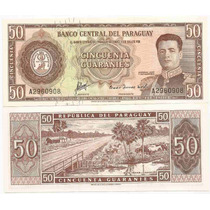 Billete De Paraguay 50 Guaranies P-197a Unc