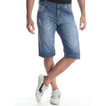Bermuda Jeans Masculina Sawary Com Bolsos Com Frete Gratis