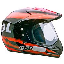 Capacete Moto Ebf Fechado Motard Super Repsol Cross 56 Preto