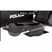 Óculos De Sol Masculino Police Polarizado 100% Uva Uvb Cinza