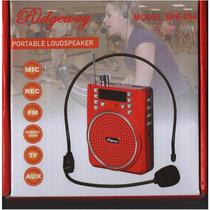 Bocina Altavoz Portatil Recargable Microfono Diadema