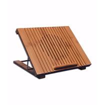 Mesa De Bambu Portátil Laptop Ventilador Base Enfriadora