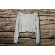 Crop Top Sueter Blusa Moda Croptop Outfit Talla S-m