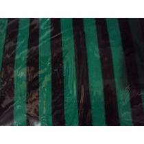 Meia 7/8 Listrada Preta Com Verde Meião Feminino