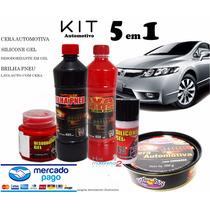Kit Limpeza Automotiva Interna/externa 5 Produtos Multi Uso