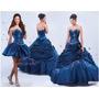 En Stock Vestido 15 Años Azul Desmontable 3piezas Quinceaños
