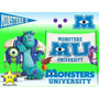 Kit Imprimible Monster Inc University Diseñá Tarjetas 2x1