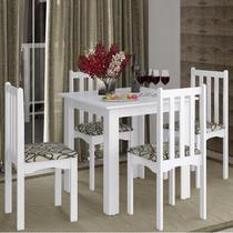 Conjunto Mesa E 4 Cadeiras Firenze Art In Móveis Branco