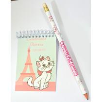 30 Bloquinhos Personalizados 7x10cm + 30 Lápis -lembrancinha