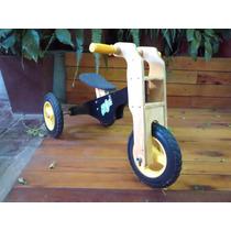 Triciclo De Iniciacion De Madera,niño/niña; Camicleta