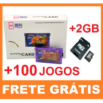 Flash Card Supercard Sd P/ Game Boy Advance Gba Sp Ds Lite