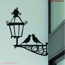 Adesivo De Parede - Passaros Luminaria Canto