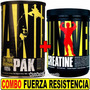 Combo Super Fuerza Animal Pak 44 + Creatina 300 Gr Universal