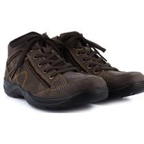 Zapato Botín Tenis Flexi Café Obscuro 24 1/2 Casual