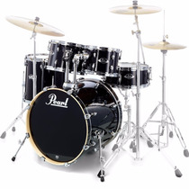 Bateria Pearl Export Exx725 Sp/c Jet Black - Shell Pack