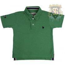 Camisa Polo Infantil Verde Bandeira Menino 6151 - Jaum Jaum